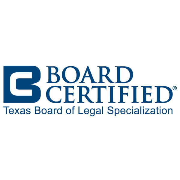 board certified by the Texas Board of Legal Specialization